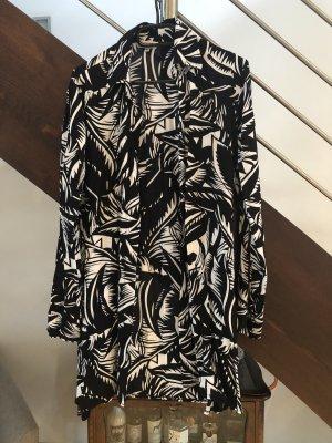 Santa Barbara Camisa hawaiana negro-blanco