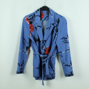Kimono nero-blu acciaio Poliestere