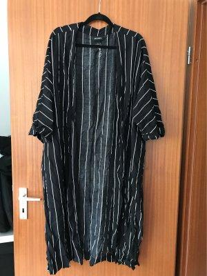 Monki Kimono czarny-biały