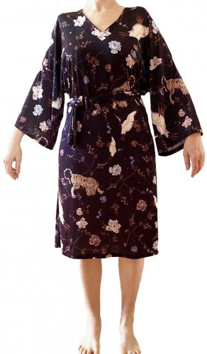 Kimono-Kleid Midi
