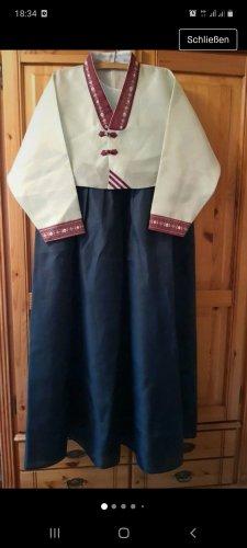 Koreanische Tracht Sukienka tunika Wielokolorowy
