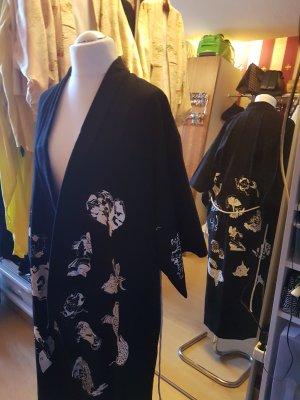 Kimono Leinen-Baumwoll-Gemisch schwarz