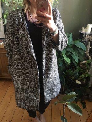 Kimono-Mantel // 60er Jahre // schwarz-weiß