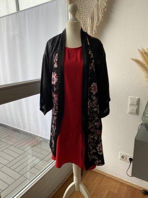 Veste chemisier noir-rouge