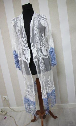 Veste longue blanc