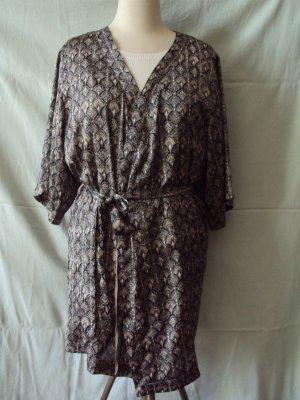 H&M Kimono nero-crema Poliestere