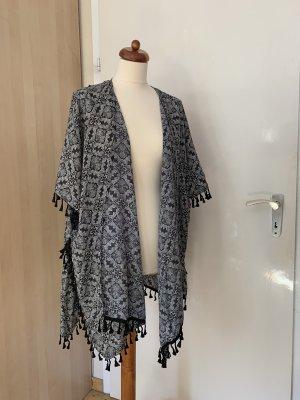 Glamorous Kimono Blouse black-white
