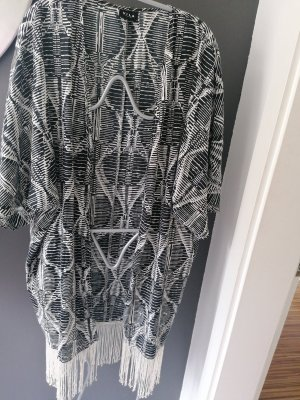 Vila Clothes Kimono blanco-negro