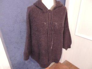 Asos Pull kimono gris anthracite laine