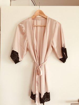 Kimono Rosa/schwarz Spitze neuwertig