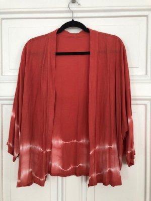 Kimono Blouse bright red viscose