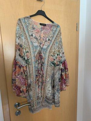 Schiffhauer Ruche blouse veelkleurig