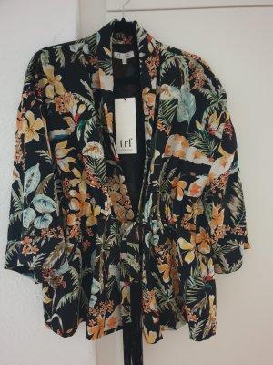 Trf by Zara Kimono negro-marrón claro