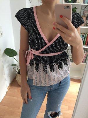 H&M Kimono negro-rosa