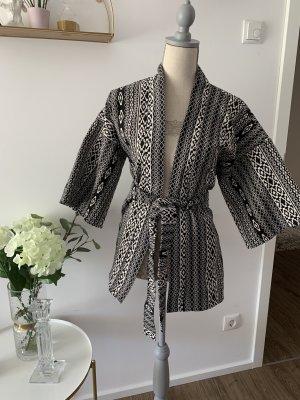 Kimonojacke M schwarz weiß