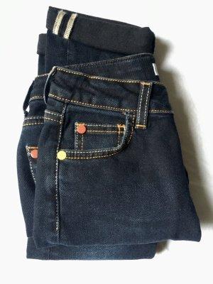 MSGM Skinny Jeans dark blue cotton