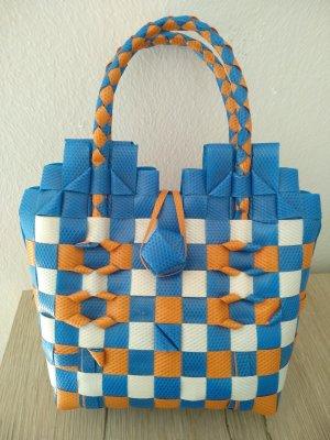Kinder/Mädchentasche aus geflochtenen Verpackungsbändern, Handmade