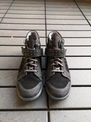 Zapatillas con hook-and-loop fastener negro Cuero