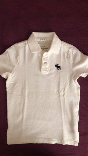 Abercrombie & Fitch Camiseta tipo polo blanco