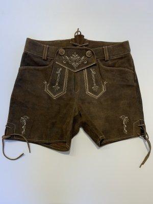 Spieth & Wensky Pantalón de cuero tradicional marrón claro-marrón