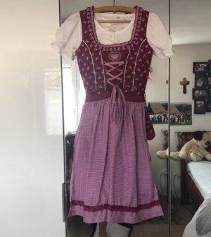 Lekra Dirndl white-purple