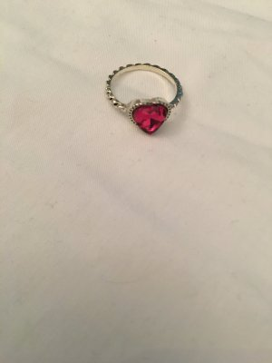 Statement ring zilver-roze