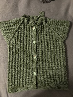 Cardigan a maniche corte verde chiaro