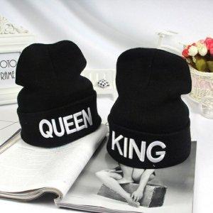 Sombrero de tela blanco-negro