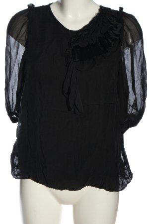 King Kong Schlupf-Bluse schwarz Elegant