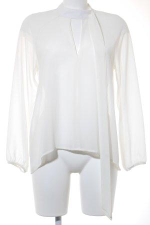 King Kong Transparenz-Bluse creme Romantik-Look