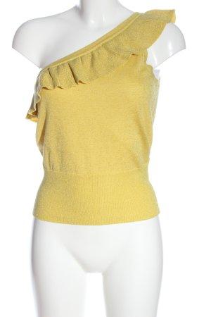 King Loui Haut avec une épaule dénudée jaune primevère-doré torsades