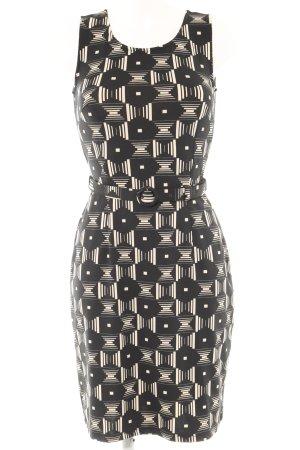 King louie A-Linien Kleid schwarz-creme grafisches Muster Elegant