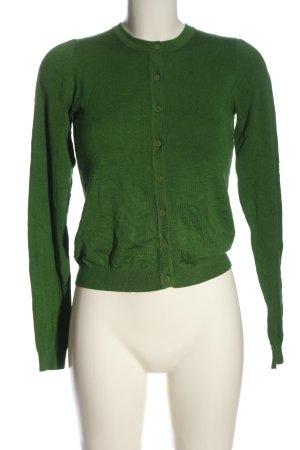 King louie Cardigan verde motivo a pallini elegante