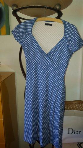 King Louie Kleid Vichy Pepita Karo Kleid blau Gr.XS