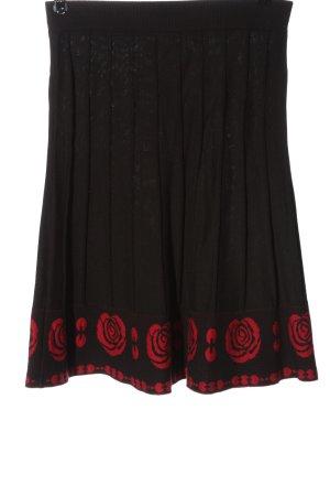 King louie Midi Skirt brown-red flower pattern casual look