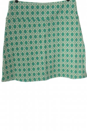 King louie Minigonna verde-bianco sporco motivo astratto stile casual