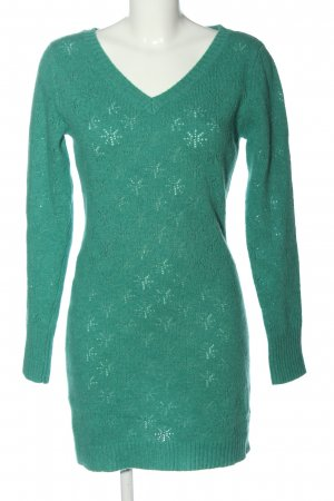 King louie Sweater Dress green casual look