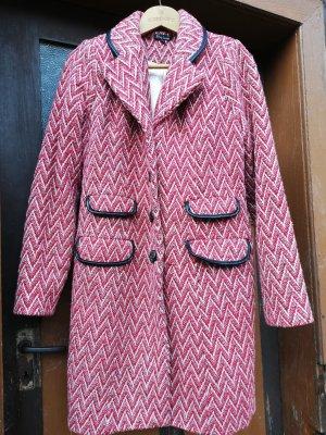 King louie Short Coat dark red-white polyester
