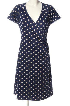 King louie Sommerkleid blau-wollweiß Punktemuster Casual-Look