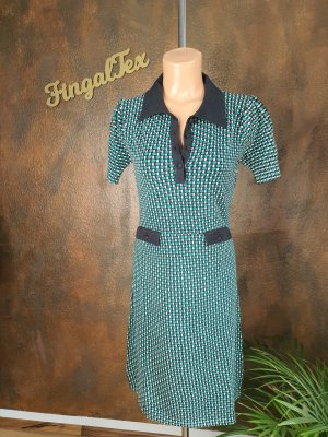 King louie Polo Dress black-forest green