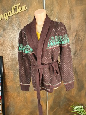 King louie Knitted Wrap Cardigan brown-mint