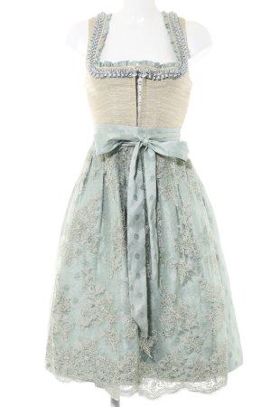 Kinga Mathe Dirndl blanc cassé-turquoise motif de tache style classique