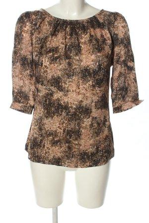 Kinga Mathe Langarm-Bluse braun-schwarz abstraktes Muster Casual-Look