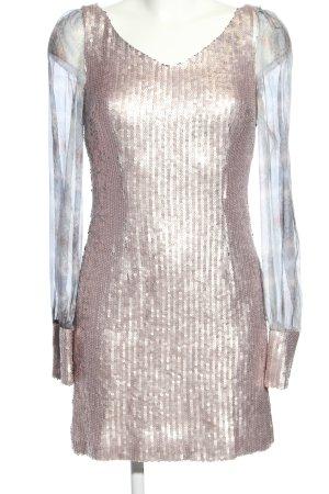 Kinga Mathe Cekinowa sukienka jasnoszary-kremowy Błyszczący