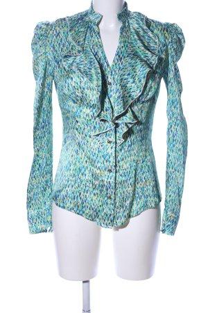 Kinga Mathe Rüschen-Bluse abstraktes Muster Elegant