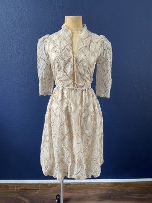KINGA MATHE Spitzen Kleid Gr. 36 nude Hochzeit Wedding top