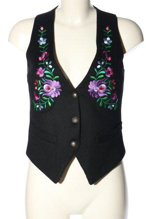 Kinga Mathe Gilet bavarois motif de fleur style décontracté