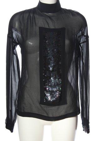 Kinga Mathe Transparenz-Bluse schwarz Casual-Look