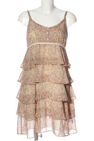 Kingan Jones Flounce Dress nude-cream allover print casual look