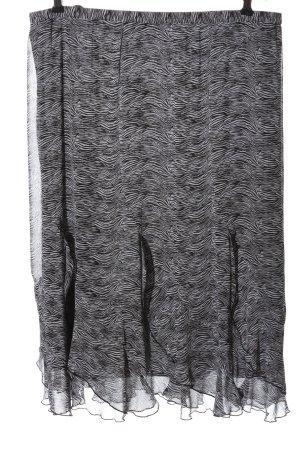 Kingfield Midi Skirt black-white allover print casual look
